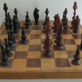 Шахматная доска с фигурами. ХХ в. Россия