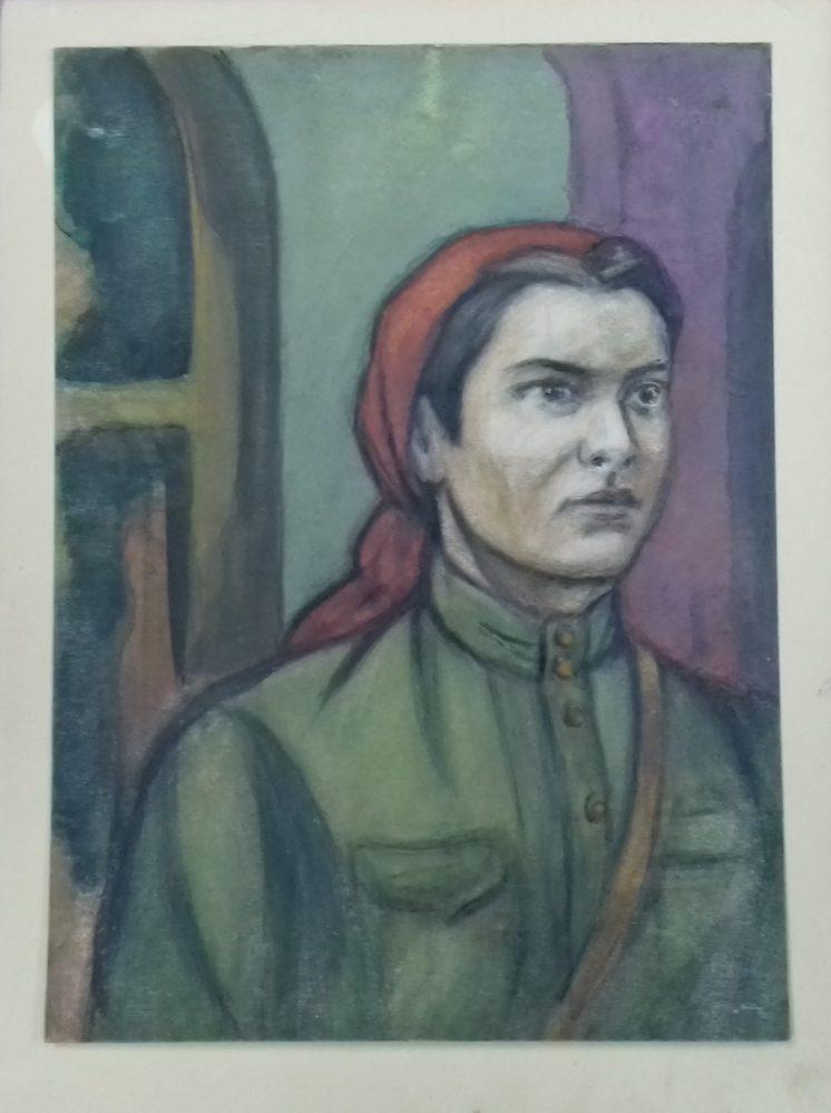 Рисунок. Рахимов М.З. «Революционерка Вера Брауде»
