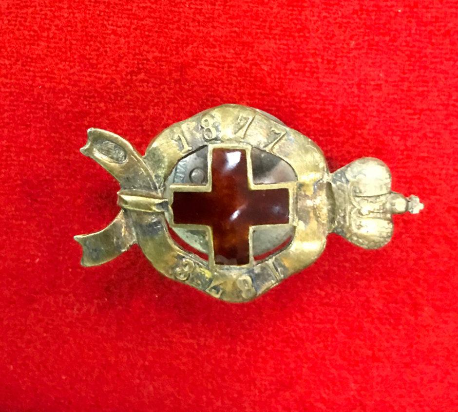 Знак. Красный крест за Русско-турецкую войну 1877-1878 гг.