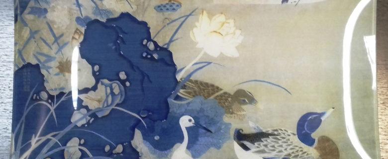 Панно. Птицы и лотос. КНР. 2019 г.
